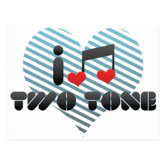 I Love Two Tone Postcard