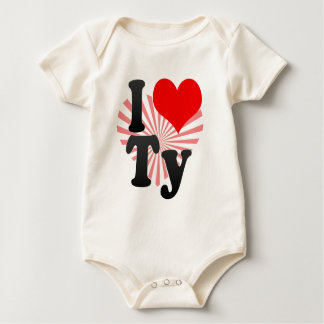 I love Ty Baby Bodysuits