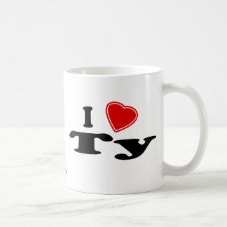 I Love Ty Basic White Mug