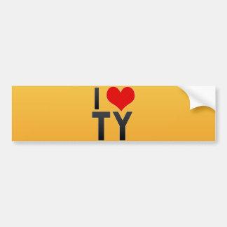 I Love TY Bumper Sticker