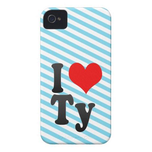I love Ty Case-Mate Blackberry Case