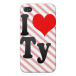 I love Ty Case For iPhone 4