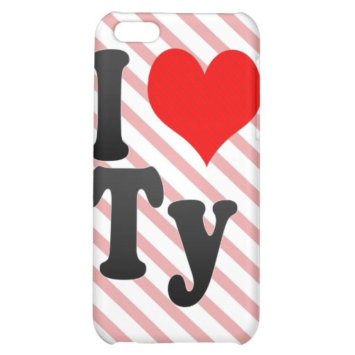 I love Ty Cover For iPhone 5C