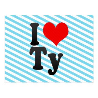 I love Ty Postcard