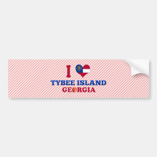 I Love Tybee Island, Georgia Bumper Sticker