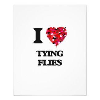 I love Tying Flies 11.5 Cm X 14 Cm Flyer