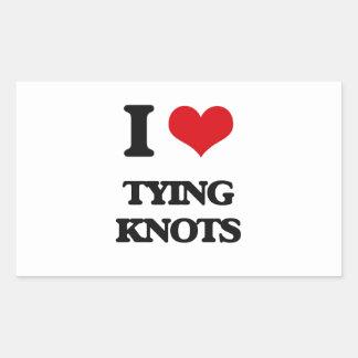 I love Tying Knots Rectangular Sticker