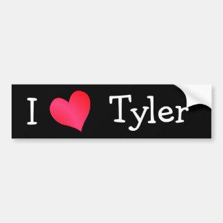 I Love Tyler Bumper Sticker