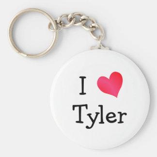 I Love Tyler Key Ring