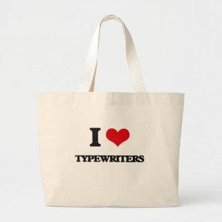 I love Typewriters Jumbo Tote Bag