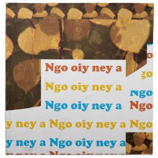I LOVE U: CANTONESE CHINA Language Culture Chinese Printed Napkins