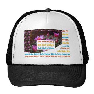 i love U :GERMAN LANGUAGE CULTURE ARTS Mesh Hats