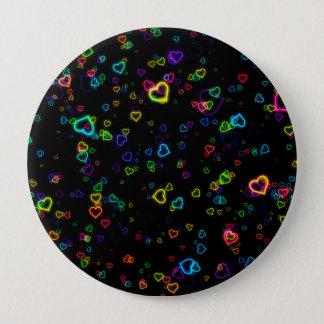 I Love U - Happy Neon 10 Cm Round Badge