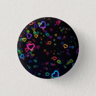 I Love U - Happy Neon 3 Cm Round Badge