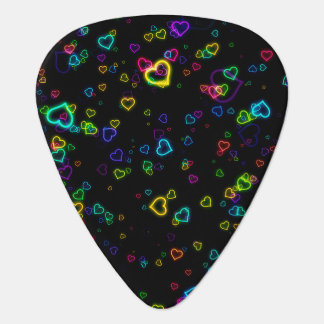 I Love U - Happy Neon Guitar Pick