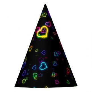 I Love U - Happy Neon Party Hat