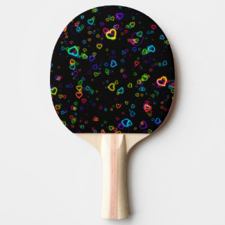 I Love U - Happy Neon Ping Pong Paddle