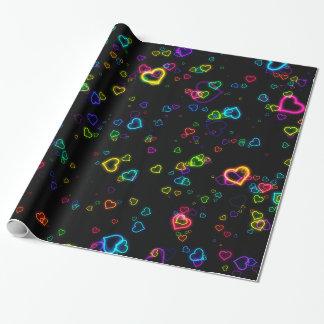 I Love U - Happy Neon Wrapping Paper