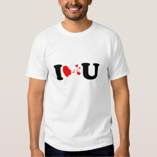 I Love U In Flying Kiss Style T Shirts