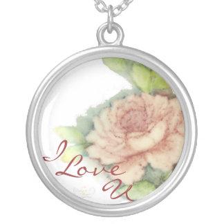 I, Love, U Necklace Charm-Customize