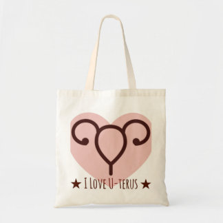 I Love U-terus tote bag