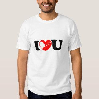I Love U With Flying Kiss T-shirt