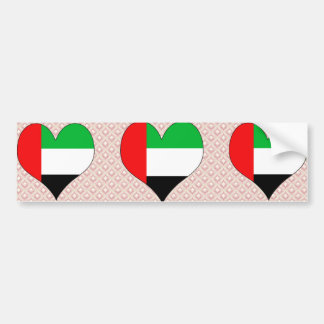 I Love Uae Bumper Sticker