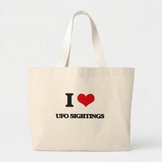 I love Ufo Sightings Jumbo Tote Bag