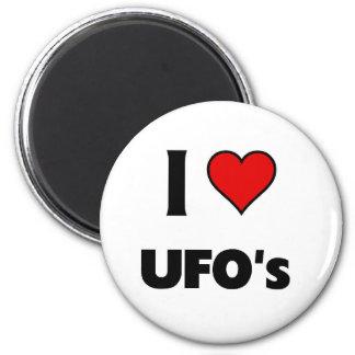 I love UFO's 6 Cm Round Magnet