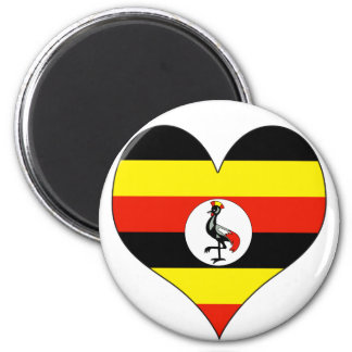 I Love Uganda 6 Cm Round Magnet