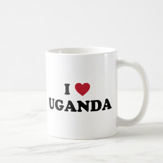 I Love Uganda Basic White Mug