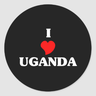 I Love Uganda Classic Round Sticker