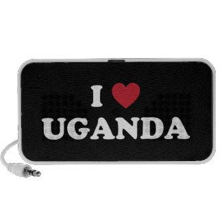 I Love Uganda Notebook Speakers