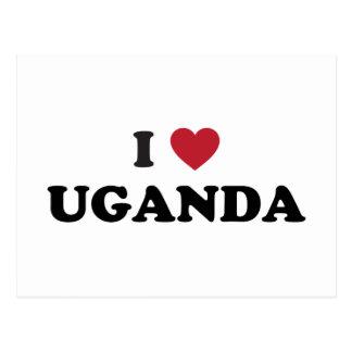 I Love Uganda Postcard