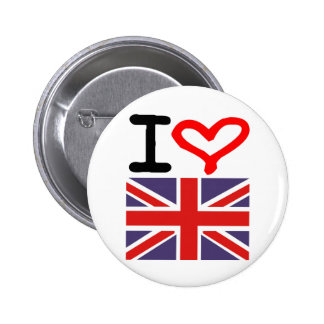 I love UK 6 Cm Round Badge