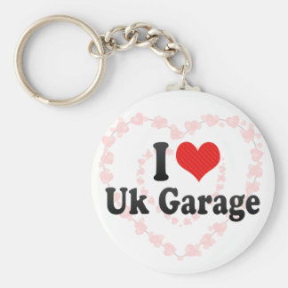 I Love Uk Garage Basic Round Button Key Ring