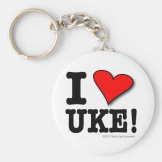 I LOVE UKE Designer Keychain