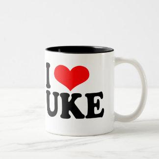 I Love Uke Ukulele Mug