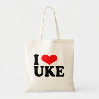 I Love Uke Ukulele Tote Bag
