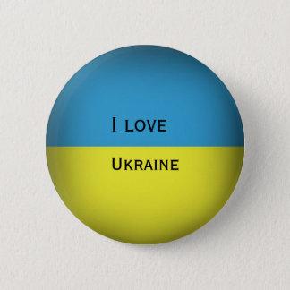 I love Ukraine 6 Cm Round Badge