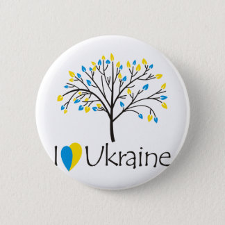 I love Ukraine 6 Cm Round Badge