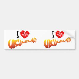 I Love Ukulele Bumper Sticker
