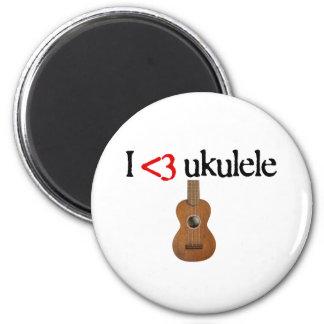 I love ukulele 6 cm round magnet