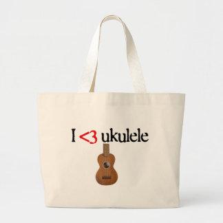 I love ukulele jumbo tote bag