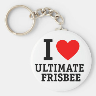 I Love Ultimate Frisbee Basic Round Button Key Ring