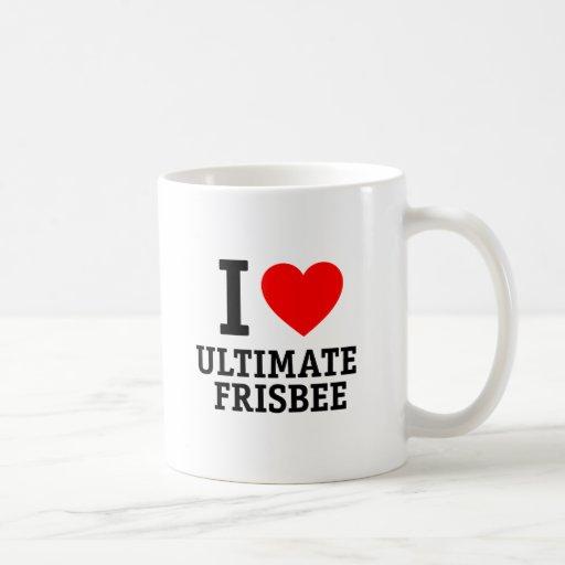 I Love Ultimate Frisbee Mug