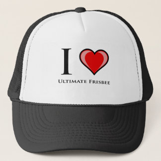 I Love Ultimate Frisbee Trucker Hat
