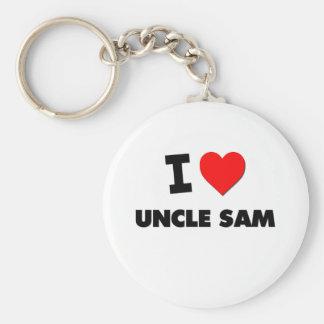 I love Uncle Sam Basic Round Button Key Ring