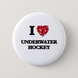 I Love Underwater Hockey 6 Cm Round Badge