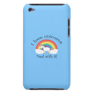 I love unicorns deal with it blue iPod touch cover